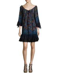 Tryb - Lupita Floral-print Chiffon Dress - Lyst