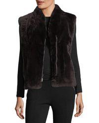 Pologeorgis - Zip-front Fur Vest - Lyst