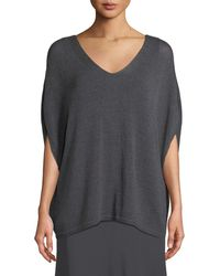 NIC+ZOE - Lived In Knit V-neck Top - Lyst