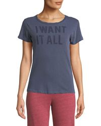 Sundry - I Want It All Graphic Crewneck Tee - Lyst