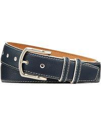 W. Kleinberg - Men's South Beach Pebbled Leather Belt - Lyst
