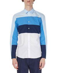 KENZO - Striped Cotton Sport Shirt - Lyst