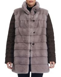 Gorski - Horizontal Mink Fur Jacket With Cashmere Quilted Down Back - Lyst