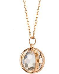 Monica Rich Kosann - 18k Rose Gold Carpe Diem Xl Rock Crystal Necklace - Lyst