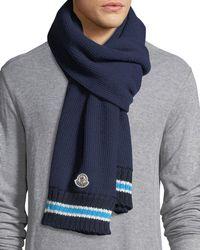 Moncler | Sciarpa Wool Knit Scarf | Lyst