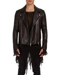Balmain - Leather Moto Jacket - Lyst