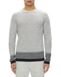 Theory - Cyar Striped Fine-gauge Merino Wool Sweater - Lyst