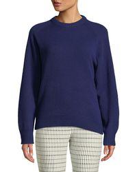 Theory - Crewneck Cashmere Pullover Sweatshirt - Lyst