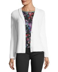 Emporio Armani - Button-front Shawl-collar Knit Jacket - Lyst