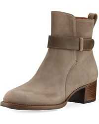 Gravati - Suede Bootie With Accent Strap - Lyst