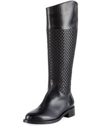 Sesto Meucci - Zelima Woven Leather Knee Boots - Lyst