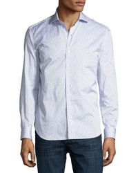 Culturata - Small Burst-print Cotton Dress Shirt - Lyst