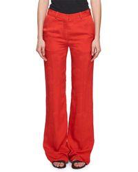 Victoria Beckham - Wide-leg Floral-jacquard Pants - Lyst