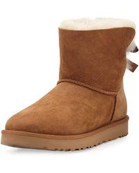 UGG - Mini Bailey Bow Ii Shearling Fur Boot - Lyst