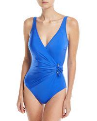 Gottex - Grace Surplice One-piece Swimsuit - Lyst