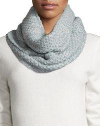 Portolano   Cashmere Knit Infinity Scarf   Lyst