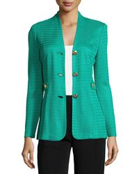 Misook - Textured Gold-button Jacket - Lyst