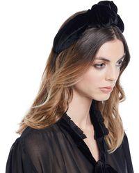 Jennifer Behr - Ophelia Velvet Knotted Headband - Lyst b0dbe255925
