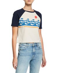 Mother - The S/s Concert Cropped Graphic Tee - Lyst