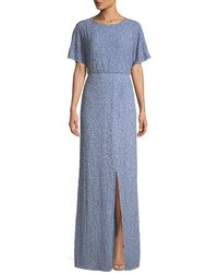 Alice + Olivia - Arora Embellished Cape-sleeve Gown - Lyst