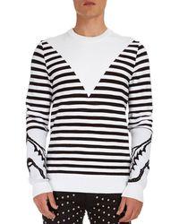 Balmain - Striped Crewneck Sweater - Lyst