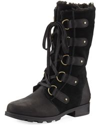Sorel - Emelie Mixed Leather Boot - Lyst