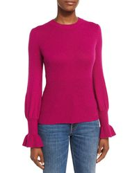 Co. - Ribbed Ruffle-cuff Sweater - Lyst