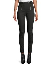 T By Alexander Wang - Paneled Body-con High-rise Pants - Lyst