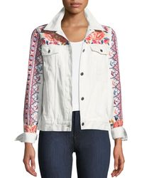 Johnny Was - Denim Jacket With Embroidery - Lyst