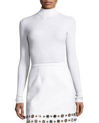 Michael Kors - Ribbed Long-sleeve Turtleneck Sweater - Lyst