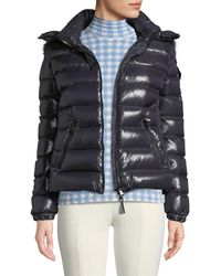 7ec4de714 Lyst - Moncler Aredhel Hooded Down Fur-trim Jacket in Black