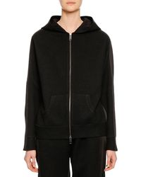 Ermanno Scervino - Zip-front Hooded Wool-cashmere Jacket W/ Lace Applique On Back - Lyst