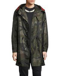 Givenchy - Nylon Camouflage-print Parka Coat - Lyst