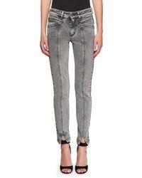 Givenchy - High-waist Lightning Bolt Straight-leg Jeans - Lyst
