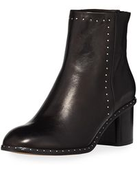 Rag & Bone - Willow Studded Leather Ankle Boot - Lyst