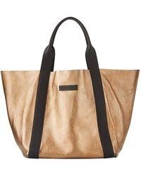 Brunello Cucinelli - Reversible Metallic Tote Bag - Lyst