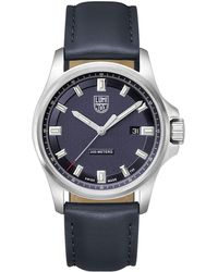 Luminox - Men's Dress Field Watch With Leather Strap - Lyst