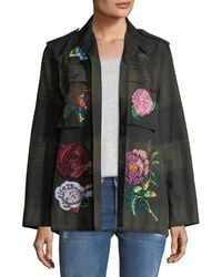 Libertine | Beaded Floral-embroidered Army Jacket | Lyst