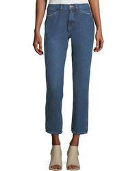 M.i.h Jeans - Cult Mid-rise Straight-leg Ankle Jeans - Lyst