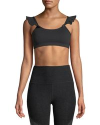 Beyond Yoga - Frill Seeker Scoop-neck Medium-support Sports Bra - Lyst