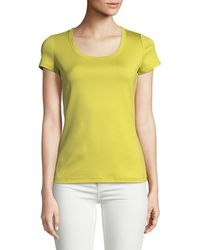 Lafayette 148 New York - Cotton-stretch Basic Tee - Lyst