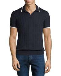 Orlebar Brown - Men's Rushton Rib-knit Polo Shirt - Lyst