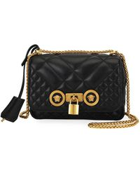 9921a5377c Versace - Icon Small Quilted Napa Leather Crossbody Bag With Medusa Detail  - Lyst