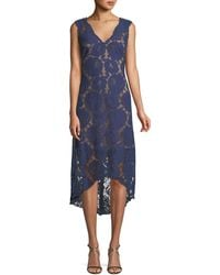 Tadashi Shoji - Gaviota High-low Lace Cocktail Dress - Lyst