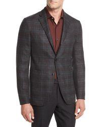 Ermenegildo Zegna - Wool Plaid Two-piece Suit - Lyst