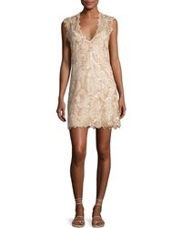 Queen & Pawn - Saria Sequined Lace Coverup Dress - Lyst