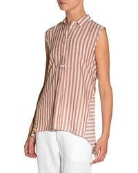 Eleventy | Striped Cotton Sleeveless Trapeze Top | Lyst