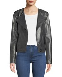 Neiman Marcus - Asymmetric-zip Leather Moto Jacket - Lyst