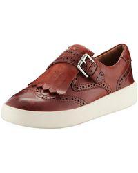 Frye - Brea Leather Wing-tip Kiltie Skate Sneakers - Lyst