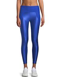 8718afbeeb Lyst - Adidas By Stella Mccartney Yoga Floral-print Leggings in Gray